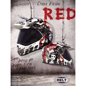 Capacete Helt Cross Vision Red Nº 58