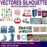 Vectores Silhouette Cajas Letras Invitaciones Mega Coleccio