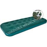 Colchon Inflable Con Inflador Incorporado 1 Plaza Afelpado