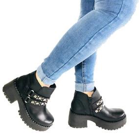 Botas Botitas Cortas Mujer Cuero Invierno 2018 Zapatos Moda
