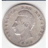 Ecuador, Antigua Moneda De Plata, 2/10 De Sucre 1.895