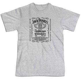 Camiseta Cultura Pop Jack Daniels 100% Algodão Silk