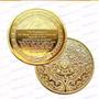 Moneda Calendario Azteca Bañada En Oro De Coleccion