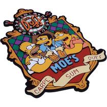 Placa Decorativa Grande Alto Relevo Bar Do Moe´s Simpson