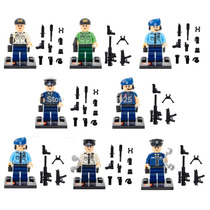 Kit Minifigures Polícia, Police City, Swat - 8 Bonecos