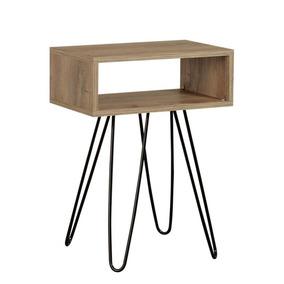Mesa De Luz Escandinava Minimalista Hardwood - Desillas