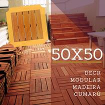 Deck Modular 50x50cm Cumarú (placa)