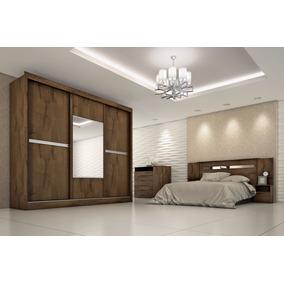 Dormitório Casal Ipê,roupeiro Mdf,espelho-móveis Europa