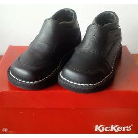 Zapatos Kickers Escolares Colegiales Negros Niño