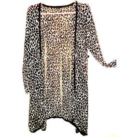 Re- Lindo Spolverino Camisa Saco Animal Print Con Lazo Ofer