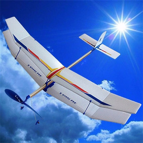 Avião Planador Movido A Elástico Biplano - Super Promoção !!