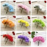 25 Pacotes X 144 Mini Rosas Flores Rosinhas Artificiais Eva