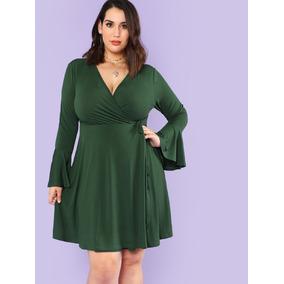 Vestido Verde, Corto, Tallas Extras L Y 1xl, Tallas Grandes