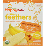 Snack Bebé Happy Baby Gentle Teethers Galleta 72 Paq -banana