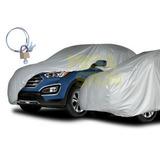 Capa Cobrir Carro C3 500 Gofrada Forrada Total + Cadeado