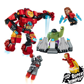 Robô Homem De Ferro Hulk Viúva Negra Ultron Compatível Lego