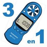 Anemómetro Digital Portátil Viento + Temperatura + Humedad