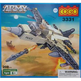 Avión Caza Combate-lego Alternativo Cogo-army Action Guerra