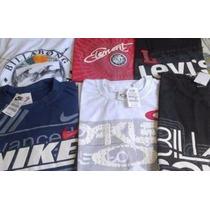Kit C/ 10 Camisetas De Marca Direto Da Fabrica