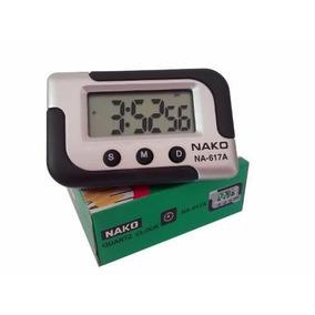 Kit - 4 Relógio Digital Carro Cronometro Portatil Painel