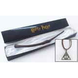 Varinha Bellatrix + Colar Harry Potter Relíquias Da Morte