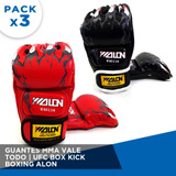 Guantes Pack X3 Pares Mma Vale Todo - Ufc Box Kick Boxing
