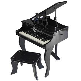 Piano Infantil 30 Teclas Preto
