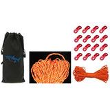 Sparik Enjoy (tm) 4 Mm Reflexivo Naranja 550 Cordón 100 Pie
