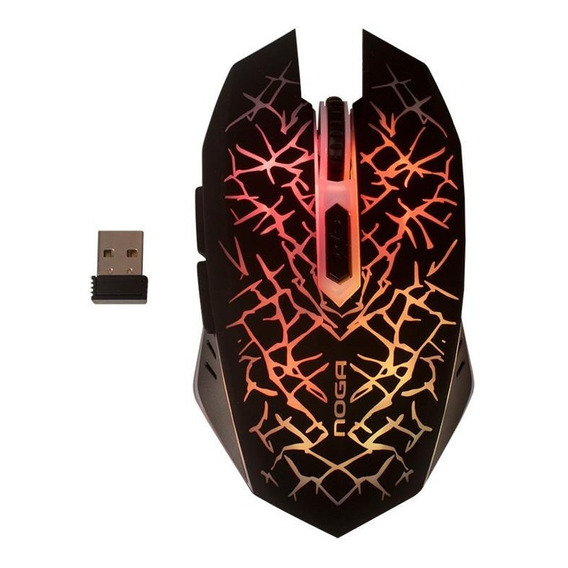 Mouse Inalambrico  Recargable 2400dpi Usb 6 Botones 15 Mts