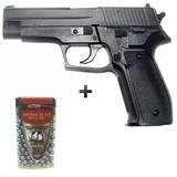 Pistola De Pressão Slide Metal Sig Sauer P226 4.5mm + Brinde