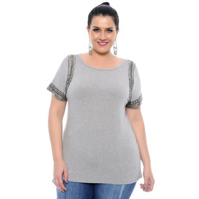 Blusa Malha Viscolycra Plus Size Tamanho Grande