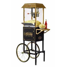 Nostalgia Vintage Collection 10 Oz Popcorn Cart | Ccp1000blk