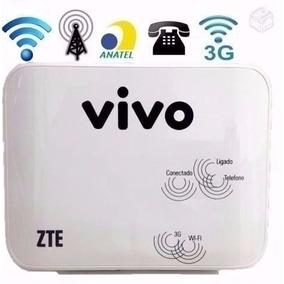 Modem Zte Mf23 Roteador 3g Wi-fi Wireless - Só Funciona Vivo