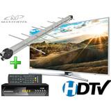 Kit Conversor Tv Digital Gravador Hdmi + Antena Externa Uhf