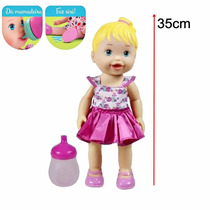 Boneca Baby My Little Collection Faz Xixi 35cm - Divertoys