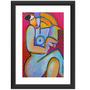 Quadro Mulher Pop Arte Abstrato Decorativo Colorido Moderno