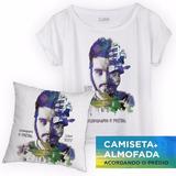 Camiseta Luan Santana Acordando O Prédio Feminina + Almofada
