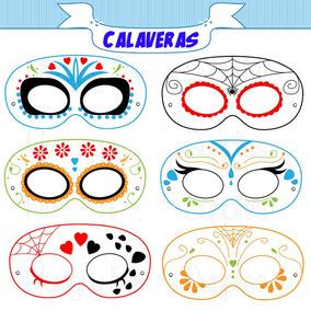 24 Mascara Antifaz De Calaveras Halloween
