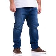 Calça Plus Size Tamanho Grande Jeans Com Lycra Masculina
