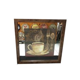 Quadros Decorativos P/cozinha C/ Espelho & Strass M216/90