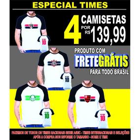 Kit 4 Camisetas De Times Com Nome Promoção Frete Grátis