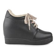 Zapatillas Zapatos De Mujer De Cuero Vacuno Bethel - Ferraro