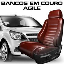 Acessorios Agile - Kit Capas De Banco 100% Em Couro Agile