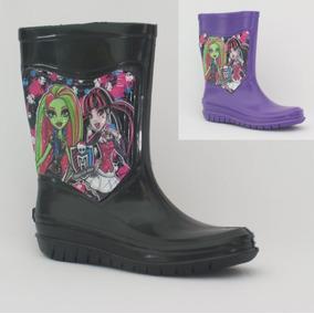 Bota Para Lluvia Niña, Monster High, Original