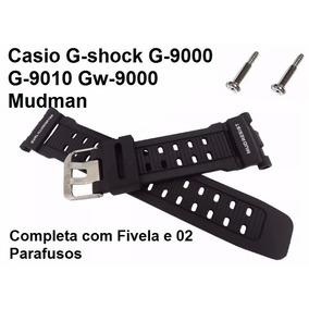 Pulseira Casio G-9000 G-9010 Gw-9000 Preto Borracha G-shock