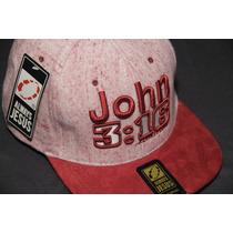 Boné Gospel Aba Reta Always Jesus Snapback John 3:16