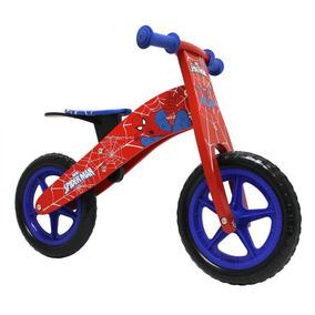 Bicicleta De Madera Lahsen Spiderman Aro 12