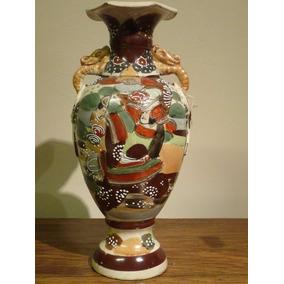 Jarron Tibor Satsuma Ceramica Japonesa Pintado A Mano
