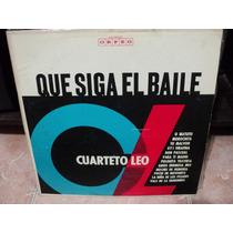 Vinilo Lp Cuarteto Leo Que Siga El Baile