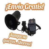 Bocina Automotriz Control Manual 3 Tonos Con Microfono